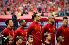 Μαδρίτη, Ισπανία - 1 ΜΑΐΟΥ 2019: Ποδοσφαιριστής του Λίβερπουλ κατά τη διάρκεια του τελικού αγώνα UEFA Champions League 2019 μεταξ στοκ εικόνες με δικαίωμα ελεύθερης χρήσης