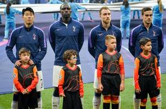 Μαδρίτη, Ισπανία - 1 ΜΑΐΟΥ 2019: Ποδοσφαιριστής του Τόττεναμ κατά τη διάρκεια του τελικού αγώνα UEFA Champions League 2019 μεταξύ στοκ εικόνες