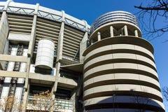 ΜΑΔΡΊΤΗ, ΙΣΠΑΝΙΑ - 21 ΙΑΝΟΥΑΡΊΟΥ 2018: Εξωτερική άποψη του σταδίου του Σαντιάγο Bernabeu στην πόλη της Μαδρίτης Στοκ εικόνες με δικαίωμα ελεύθερης χρήσης