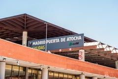 ΜΑΔΡΊΤΗ ΙΣΠΑΝΙΑ - 23 ΙΟΥΝΊΟΥ 2015: Σταθμός μετρό Atocha Στοκ Εικόνα
