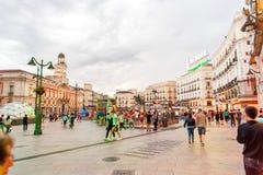 ΜΑΔΡΊΤΗ ΙΣΠΑΝΙΑ - 23 ΙΟΥΝΊΟΥ 2015: Puerta del Sol Στοκ φωτογραφία με δικαίωμα ελεύθερης χρήσης