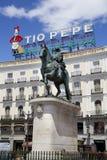 ΜΑΔΡΊΤΗ, ΙΣΠΑΝΙΑ - 28 ΜΑΐΟΥ 2014: Κέντρο της πόλης της Μαδρίτης, Puerta del Sol πλατεία Στοκ εικόνες με δικαίωμα ελεύθερης χρήσης