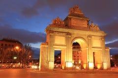 Μαδρίτη - πύλη του Τολέδο στοκ εικόνες