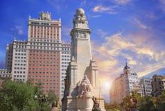 Μαδρίτη, Plaza de Espana Στοκ φωτογραφία με δικαίωμα ελεύθερης χρήσης