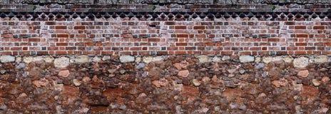 Μαζί παλαιοί τοίχοι τεκτονικών και πλινθοδομής Στοκ φωτογραφία με δικαίωμα ελεύθερης χρήσης