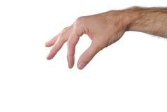 μαζεύοντας με το χέρι το σημάδι επάνω στοκ φωτογραφία