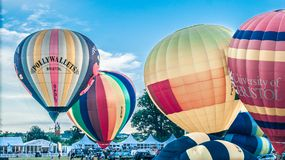 Μαζική ανάβαση των μπαλονιών Στοκ Εικόνα