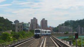 Μαζική γρήγορη διέλευση στην Ταϊβάν Ταϊπέι, σύστημα μεταφορών υπογείων μετρό φιλμ μικρού μήκους