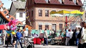 Μαζικοί εορτασμοί, ημέρα της πόλης απόθεμα βίντεο