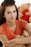 μαθήτρια βασικού πορτρέτου στοκ φωτογραφία