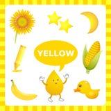 Μαθαίνοντας κίτρινο χρώμα Στοκ Εικόνα