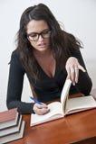 μαθαίνοντας σπουδαστής κοριτσιών Στοκ Φωτογραφία