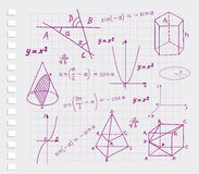 Μαθηματικά - γεωμετρικά σκίτσα μορφών Στοκ Εικόνα