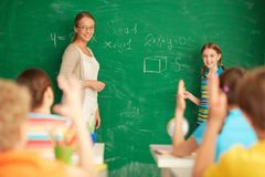 Μαθηματικά εκμάθησης Στοκ Εικόνες