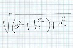 Μαθηματικά παραδείγματα τύπου Στοκ Φωτογραφία
