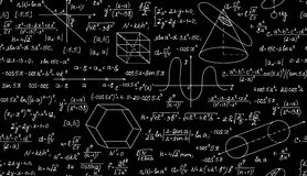 Μαθηματικό διανυσματικό άνευ ραφής σχέδιο με τις πλοκές, τους τύπους και τους γεωμετρικούς αριθμούς Ατελείωτη σύσταση math Στοκ Εικόνες