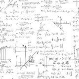 Μαθηματικό διανυσματικό άνευ ραφής σχέδιο με τους γεωμετρικούς αριθμούς, π Στοκ Εικόνες