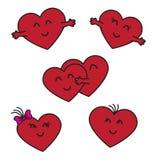 μαθηματικό κόκκινο απλό στοιχειώδες λευκό καρδιών ανασκόπησης προσθηκών υλοτομίες διανυσματική απεικόνιση