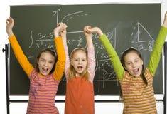 μαθητές επιτυχείς Στοκ εικόνα με δικαίωμα ελεύθερης χρήσης