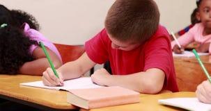 Μαθητές που εργάζονται στο σχολείο απόθεμα βίντεο