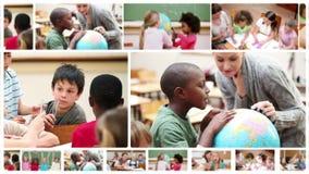 Μαθητές που μελετούν στο σχολείο τους φιλμ μικρού μήκους