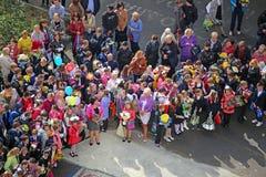 Μαθητές σε μια ημέρα γνώσης στη Μόσχα Στοκ εικόνα με δικαίωμα ελεύθερης χρήσης
