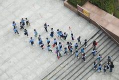 Μαθητές στο Χονγκ Κονγκ Στοκ Εικόνες