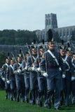 Μαθητές στρατιωτικής σχολής που βαδίζουν στη Στρατιωτική Ακαδημία Westpoint στοκ φωτογραφία