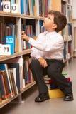 μαθητής βιβλιοθηκών Στοκ εικόνες με δικαίωμα ελεύθερης χρήσης