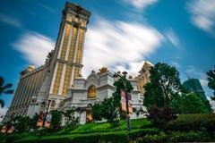 Μακάο, Κίνα - 23 Απριλίου 2019: Χαρτοπαικτική λέσχη και ξενοδοχείο του Μακάο γαλαξιών στοκ εικόνα με δικαίωμα ελεύθερης χρήσης