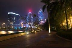 Μακάο, Κίνα - 2014 10 15: Μακάο - η πρωτεύουσα παιχνιδιού της Ασίας Η φωτογραφία του διάσημου μεγάλου ξενοδοχείου της Λισσαβώνας Στοκ Εικόνες