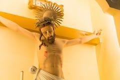 ΜΑΚΑΟ - 13 Δεκεμβρίου 2015: Σταύρωση του Ιησού στην εκκλησία του ST Dominic (W Στοκ Εικόνες