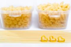 Μακαρόνια και macaroni Στοκ εικόνα με δικαίωμα ελεύθερης χρήσης