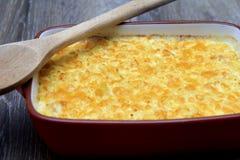 Μακαρόνια με το τυρί, κοτόπουλο Στοκ Εικόνες
