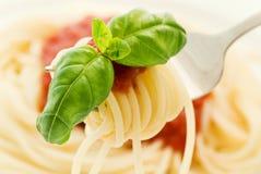 μακαρόνια σάλτσας στοκ εικόνα με δικαίωμα ελεύθερης χρήσης