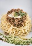 Μακαρόνια bolognese με το τυρί παρμεζάνας 6 Στοκ εικόνες με δικαίωμα ελεύθερης χρήσης
