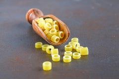 Μακαρόνια Ditalini Δαχτυλίδια ζυμαρικών Tubettini και δακτυλήθρες Anellini Στοκ Εικόνα
