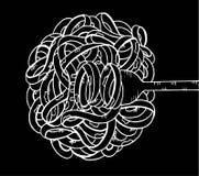 μακαρόνια doodle, σχέδιο χεριών Στοκ Εικόνες