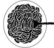 μακαρόνια doodle, σχέδιο χεριών Στοκ εικόνες με δικαίωμα ελεύθερης χρήσης