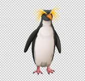 Μακαρόνια penguin στο διαφανές υπόβαθρο ελεύθερη απεικόνιση δικαιώματος