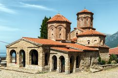Μακεδονία, λίμνη Οχρίδα, ορθόδοξο μοναστήρι του ST Naum 10ο Centu Στοκ εικόνα με δικαίωμα ελεύθερης χρήσης