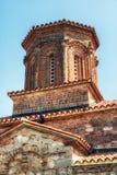 Μακεδονία, λίμνη Οχρίδα, ορθόδοξο μοναστήρι του ST Naum 10ο Centu Στοκ Εικόνα