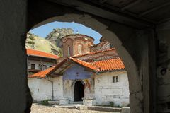 Μακεδονία, μοναστήρι Treskavec στοκ φωτογραφία με δικαίωμα ελεύθερης χρήσης