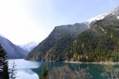 Μακριά λίμνη, Jiuzhaigou Στοκ Φωτογραφία