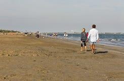 Μακριά αμμώδης παραλία Lido, Ιταλία Στοκ εικόνες με δικαίωμα ελεύθερης χρήσης