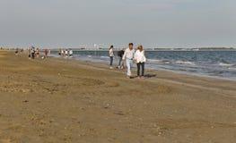 Μακριά αμμώδης παραλία Lido, Ιταλία Στοκ Εικόνες