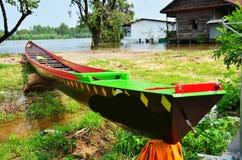 Μακριά βάρκα για τον αγώνα σε Surin Ταϊλάνδη στοκ φωτογραφία