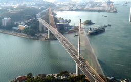 Μακριά γέφυρα εκταρίου ημέρα Στοκ Εικόνα