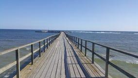 Μακριά γέφυρα παραλιών Στοκ Εικόνες