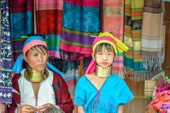 Μακριά γυναίκα λαιμών στην Ταϊλάνδη Στοκ Εικόνες